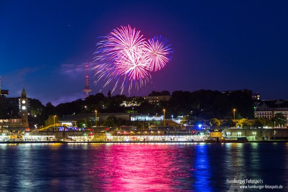 Feuerwerk in Hamburg