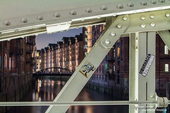 2. Fotospot auf der Wandrahmsfleetbrücke